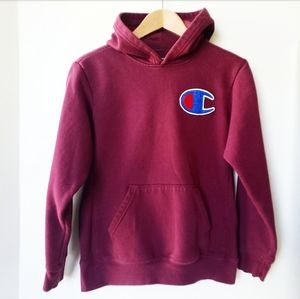 CHAMPION Burgandy Red Hoodie Pullover